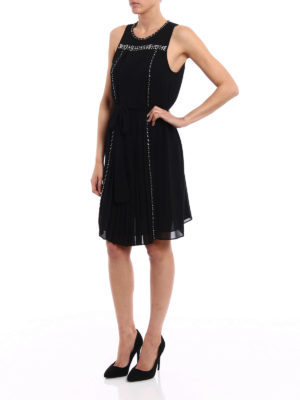 Michael Kors: cocktail dresses online - Rhinestone detail chiffon dress