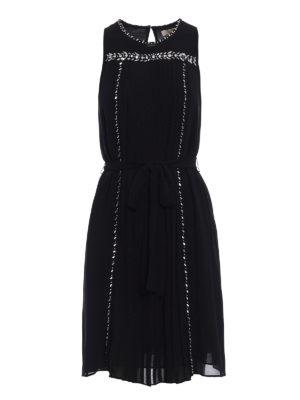 Michael Kors: cocktail dresses - Rhinestone detail chiffon dress