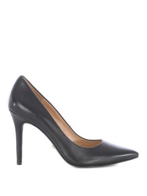 MICHAEL KORS: court shoes - Claire black leather pointy toe pumps