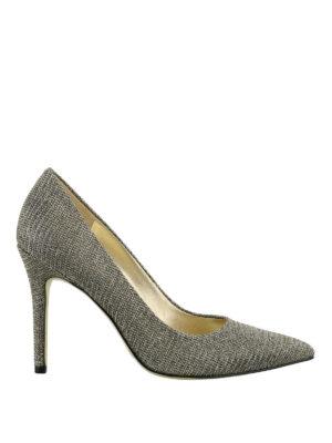 MICHAEL KORS: scarpe décolleté - Décolleté Claire in mesh glitter