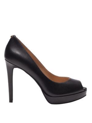 MICHAEL KORS: scarpe décolleté - Décolleté nere Erika con plateau e peep toe