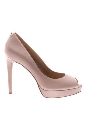 Michael Kors: court shoes - Erika leather open toe pumps