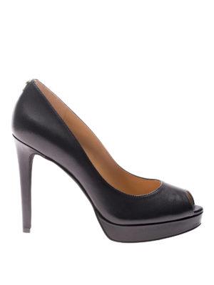Michael Kors: court shoes - Erika open toe leather pumps