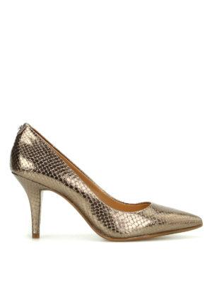 Michael Kors: court shoes - Flex metallic leather pumps