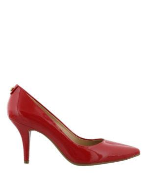 MICHAEL KORS: scarpe décolleté - Décolleté rosse Flex Mid-heel