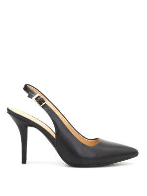 Michael Kors: court shoes - Flex slingback leather pumps