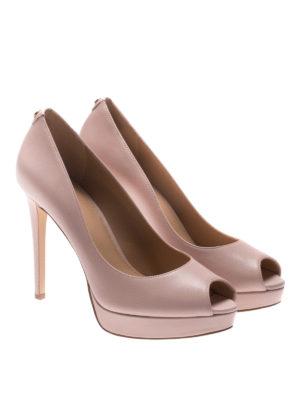 Michael Kors: court shoes online - Erika leather open toe pumps