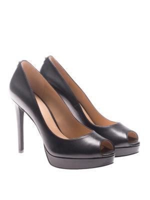 Michael Kors: court shoes online - Erika open toe leather pumps