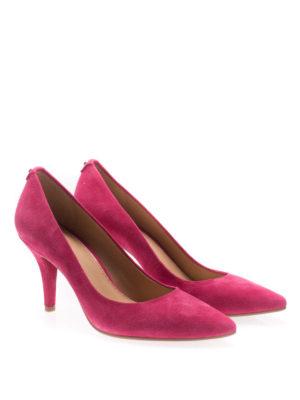Michael Kors: court shoes online - Flex fuchsia suede mid pumps