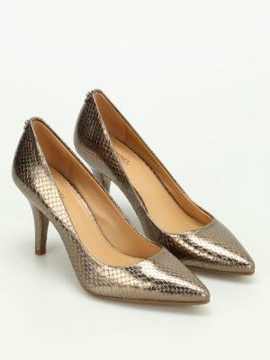 Michael Kors: court shoes online - Flex metallic leather pumps