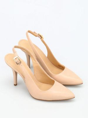 Michael Kors: court shoes online - Flex slingback leather pumps