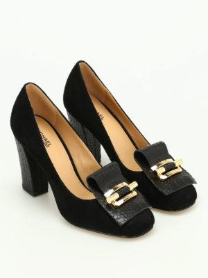 Michael Kors: court shoes online - Gloria Kiltie fringed suede pumps