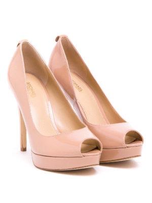 Michael Kors: court shoes online - York open toe mirror pumps