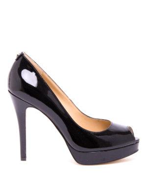 Michael Kors: court shoes - York open toe mirror pumps