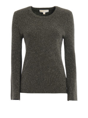 Michael Kors: crew necks - Bell sleeved lurex sweater