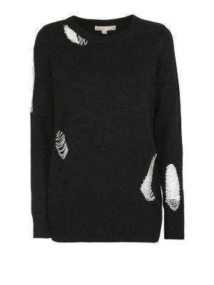 MICHAEL KORS: maglia collo rotondo - Maglia girocollo con catenelle