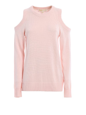Michael Kors: crew necks - Cut out shoulders sweater