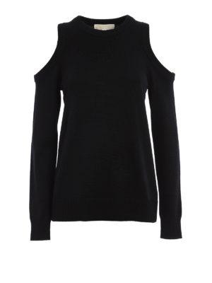Michael Kors: crew necks - Cut out shoulders sweater