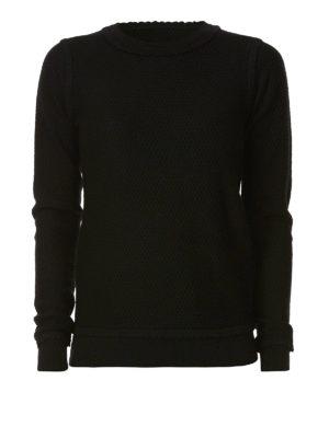 MICHAEL KORS: maglia collo rotondo - Girocollo in lana merino decorato sui bordi
