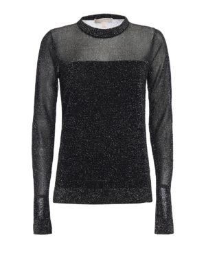 Michael Kors: crew necks - Lurex crew neck sweater