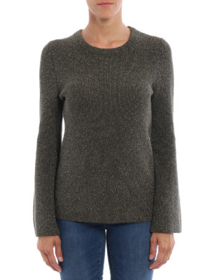 Michael Kors: crew necks online - Bell sleeved lurex sweater