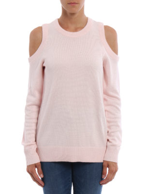 Michael Kors: crew necks online - Cut out shoulders sweater