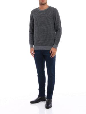 Michael Kors: crew necks online - Houndstooth merino wool sweater