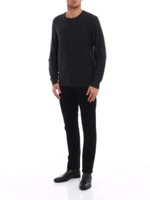 Michael Kors: crew necks online - Melange wool blend sweater