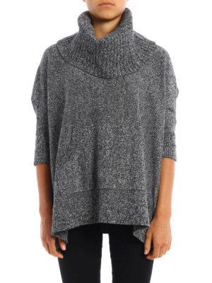 Michael Kors: crew necks online - Over sweater and separate cowl neck