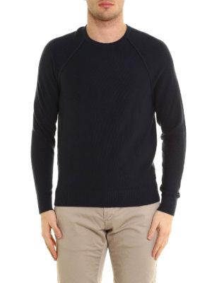 Michael Kors: crew necks online - Seed stitch cotton crewneck