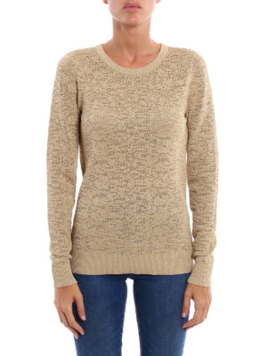 Michael Kors: crew necks online - Shimmering see through sweater