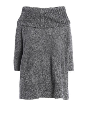 Michael Kors: crew necks - Over sweater and separate cowl neck