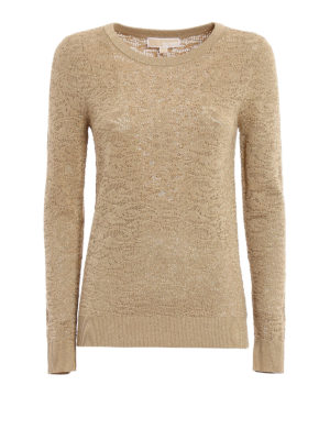 Michael Kors: crew necks - Shimmering see through sweater