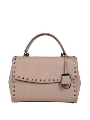 Michael Kors: cross body bags - Ava studded satchel