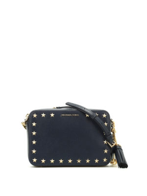 Michael Kors: cross body bags - Ginny blue leather camera bag
