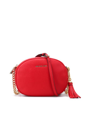 Michael Kors: cross body bags - Ginny bright red leather crossbody