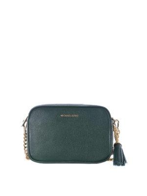f80c44b74125 MICHAEL KORS: borse a tracolla - Borsa a tracolla Ginny M in pelle verde. Michael  Kors. Ginny M dark green leather cross body bag