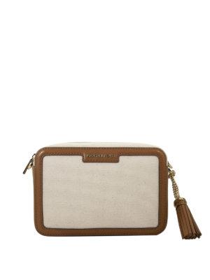 d460764d0e MICHAEL KORS: borse a tracolla - Borsa Ginny M rettangolare in pelle e  cotone