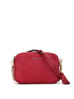 bd041b026e MICHAEL KORS: borse a tracolla - Borsa Ginny media color rosso scuro