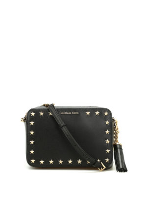 Michael Kors: cross body bags - Ginny smooth leather camera bag