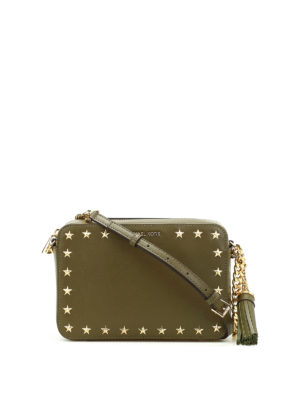 Michael Kors: cross body bags - Ginny smooth leather camera bag
