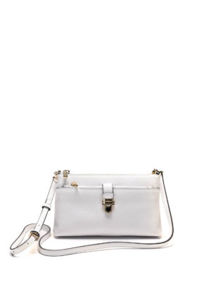 Michael Kors: cross body bags - Hammered leather crossbody bag