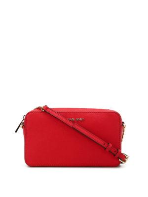 Michael Kors: cross body bags - Jet Set bright red medium crossbody