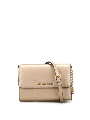 Michael Kors: cross body bags - Jet Set Travel metallic crossbody