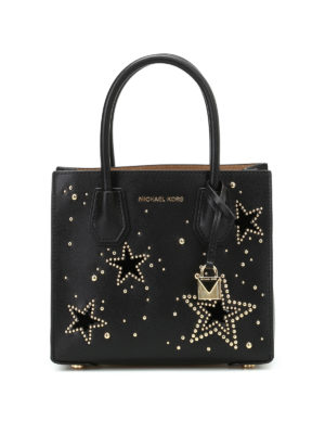 Michael Kors: cross body bags - Mercer M bag with studded stars