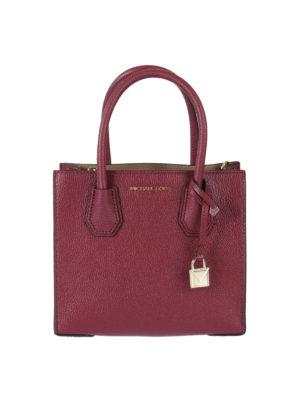 Michael Kors: cross body bags - Mercer mulberry medium handbag