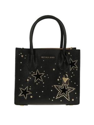 MICHAEL KORS: borse a tracolla - Mercer S con stelle e borchiette
