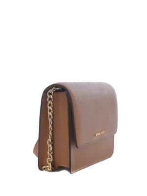 Michael Kors: cross body bags online - Daniela large brown crossbody bag