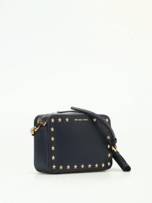 Michael Kors: cross body bags online - Ginny blue leather camera bag