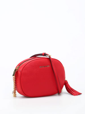 Michael Kors: cross body bags online - Ginny bright red leather crossbody